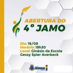 Abertura do 4º JAMO acontece hoje em Mondaí