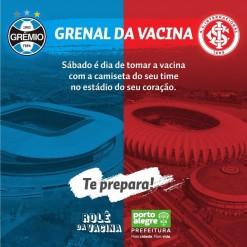 Dupla GreNal abre seus estádios para campanha de vacinação contra Covid-19