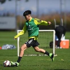 Filho de Fernandão e promessa colombiana treinam com principal do Inter