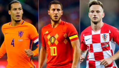 Van Dijk, Hazard e Rakitic são os principais jogadores de suas seleções