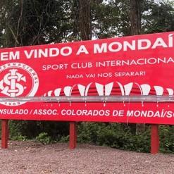 Mais uma vez placa do Consulado do Inter em Mondaí é alvo de vândalos