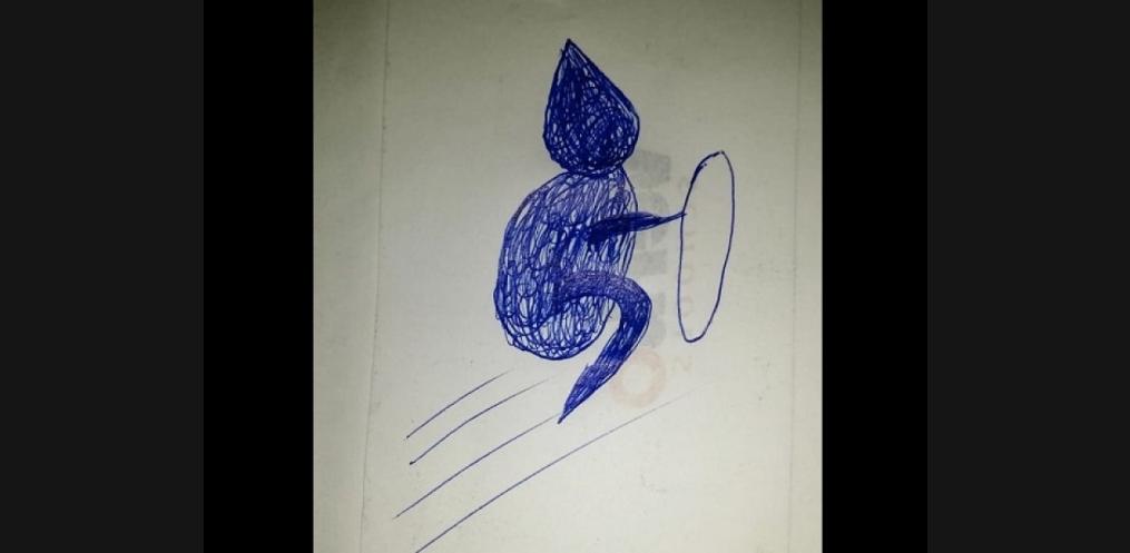 Desenho feito pela Raquel – Foto: Divulgação