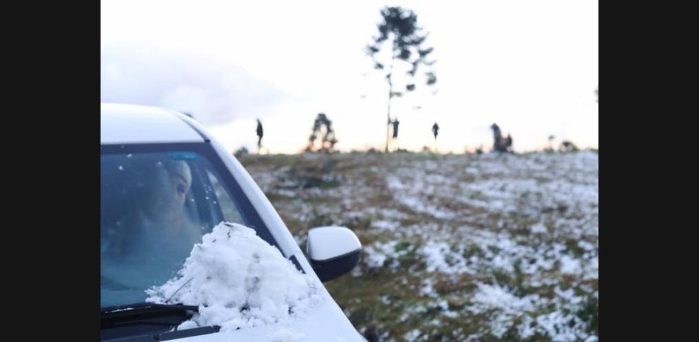 São Joaquim, na Serra Catarinense, registrou a primeira neve de 2017. Foto: Julio Cavalheiro/Secom