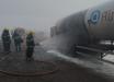 Caminhão carregado com oxigênio líquido pega fogo em Cunha Porã