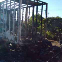 Caminhão é destruído pelo fogo no interior de Itapiranga