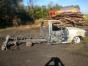 Caminhonete é destruída pelo fogo no interior de Itapiranga