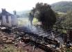 Casa é destruída por incêndio em São João do Oeste