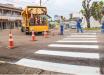 Faixas de sinalização de trânsito são revitalizadas em Mondaí