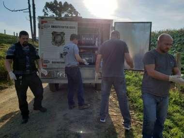 IGP atende caso de triplo homicídio em Alfredo Wagner