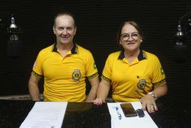 Jair Dal Ri e Cleonice Rubert, em entrevista a RPF