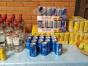 Bebidas alcoólica e energéticos foram recolhidos durante a açãoDivulgação