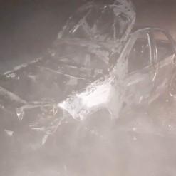 Incêndio atinge veículo da Secretaria de Saúde de Iporã do Oeste