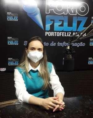 Médica Marina da Silva em entrevista a Rádio Porto Feliz