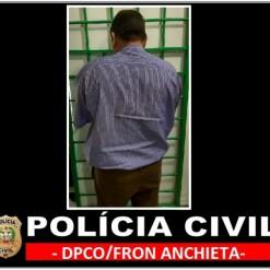 Polícia Civil de Anchieta prende homem suspeito de abusar das duas filhas