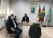 Prefeito de Mondaí viaja para Florianópolis e visita a Cidasc