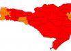 Santa Catarina tem aumento de 330% no número de regiões gravíssimas